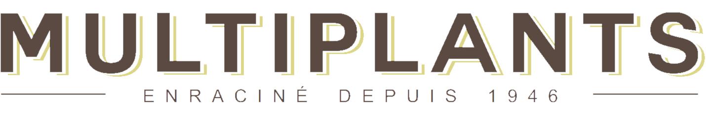 Logo Multiplants (francais) white